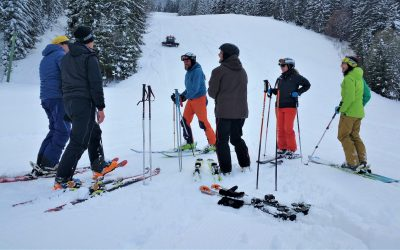Gruppe Ski Hang Schnee Winter